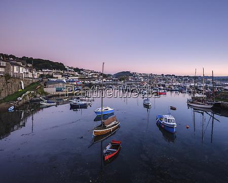 twilight looking across the inner harbours