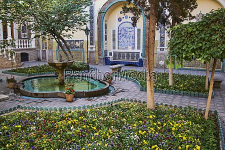garden moghadam museum tehran iran middle