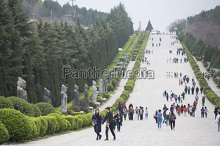 qianling mausoleum qin emperors tomb at