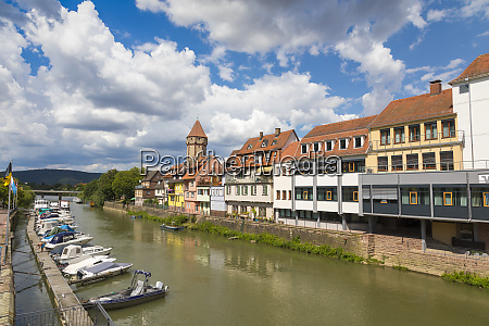 wertheim river tauber baden wurttemberg germany