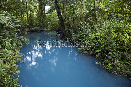 rio celeste in the tenorio volcano