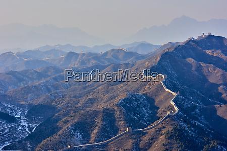 dawn over the jinshanling and simatai