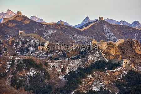 view of the jinshanling and simatai