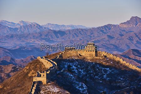 elevated view jinshanling and simatai sections