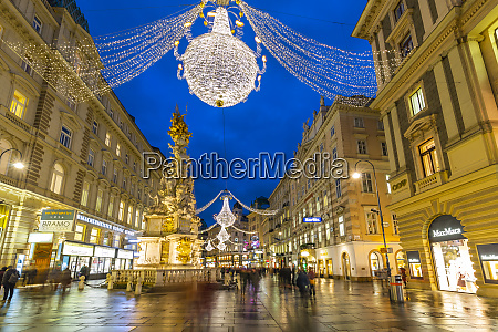 view of christmas lights on graben