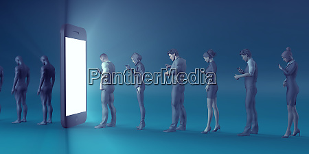 technology, smartphone, turning, people, into, zombies - 27066280
