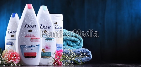 variety of dove products including body