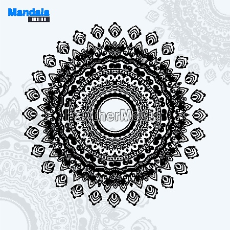 abstract mandala design lineart vector illustration