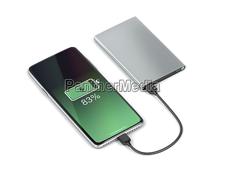 charging the smartphone with a power