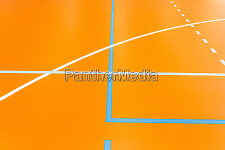 colorful lines on the floor of