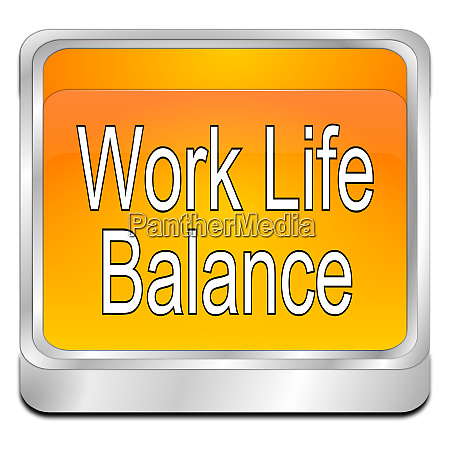 orange work life balance button
