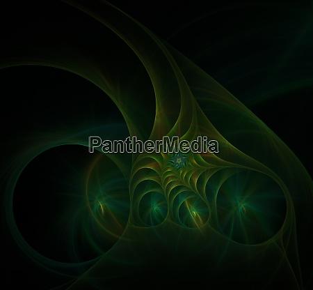 green spiral fractal picture