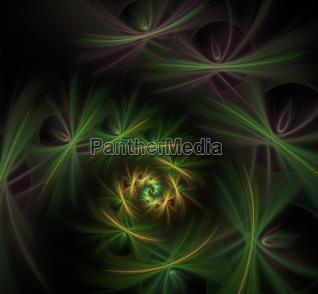 green spiral flowers fractal picture