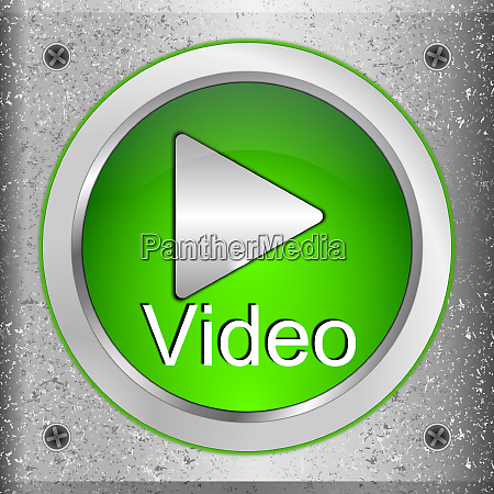 green play video button on a