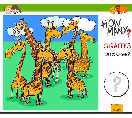 how many giraffes educational task for
