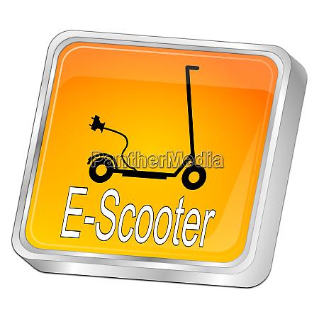 glossy orange e scooter button