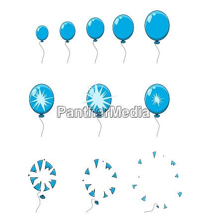 balloon pop explosion burst animation step