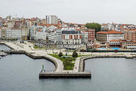 spain harbor of la coruna