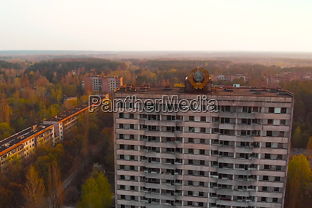 ghost town pripyat near chernobyl npp