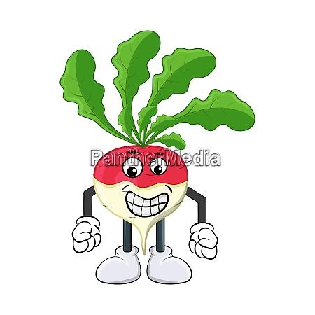 turnip happy cartoon character illustration