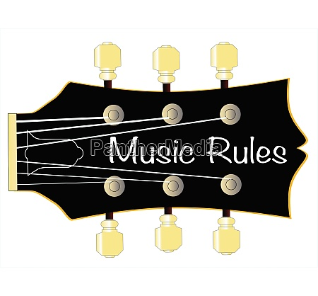 music rules guitar headstock