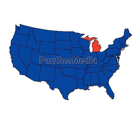 state of michigan location