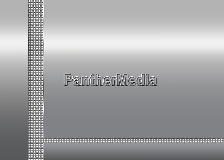 silver metallic background with dotted vertical