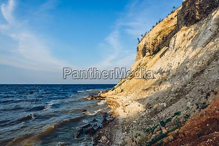 steep rocky river shore