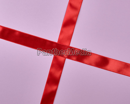 red satin ribbon cross to cross