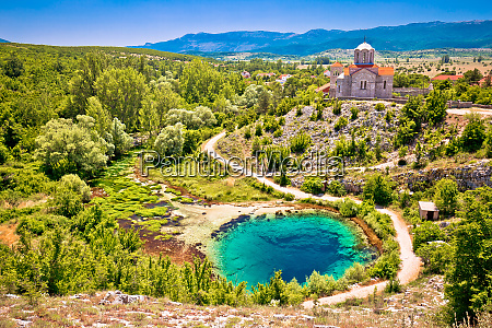 cetina river source water hole and