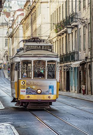 tram number 28 lisbon portugal europe