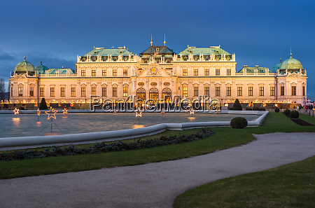 lower belvedere palace at christmas unesco