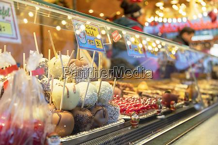 food stall at frankfurt christmas market