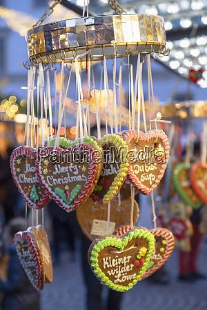 cookies at christmas market wiesbaden hesse