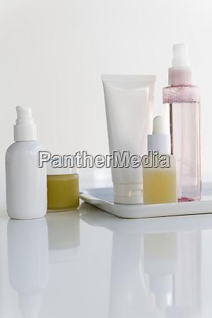 bottles of skin care