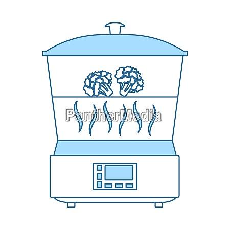kitchen steam cooker icon