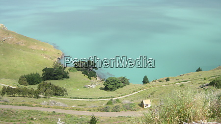 lake and mountain topography in christchurch
