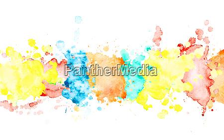 multicolor watercolor horizontal stripe