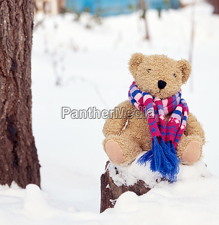 brown childrens soft toy bear in