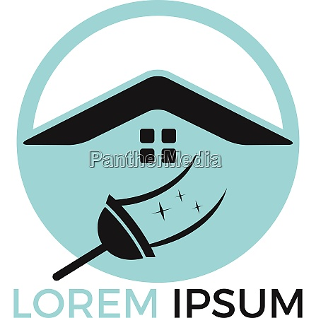 home cleaning logo design