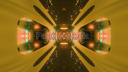 futuristice scifi alien tunnel wallpaper 3d
