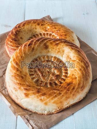 tandoor bread on white table