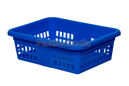 empty basket isolated a empty blue