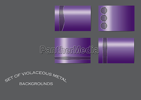 four violet metallic backgrounds