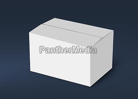 3d white box mock up concept