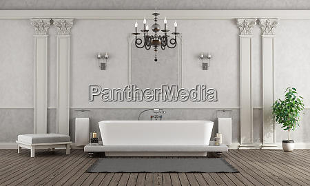 luxury white and gray home bathroom