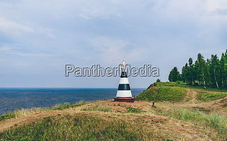 beacon on the cliff