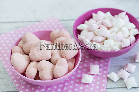 pink pastel sweets and candies