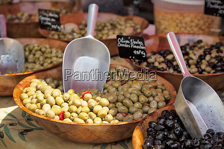 olives on a market in provence