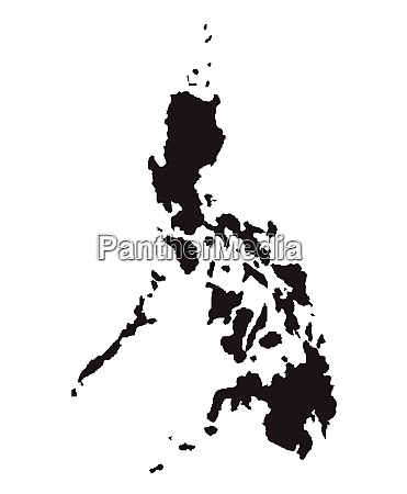 silhuette map of the philippines